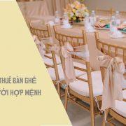 chọn thuê bàn ghế đám cưới hợp mệnh